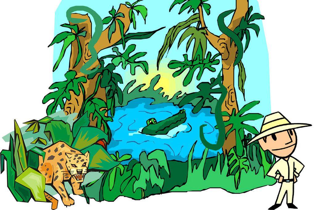 skattejagt med jungletema