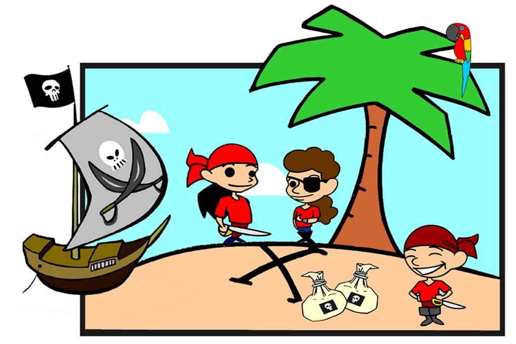 piratskattejagt skattejagt til piratfødselsdag