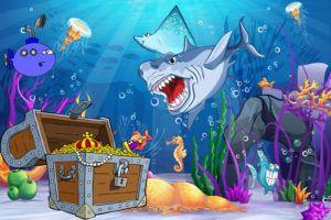 lege til børnefødselsdag skattejagt med undervandstema