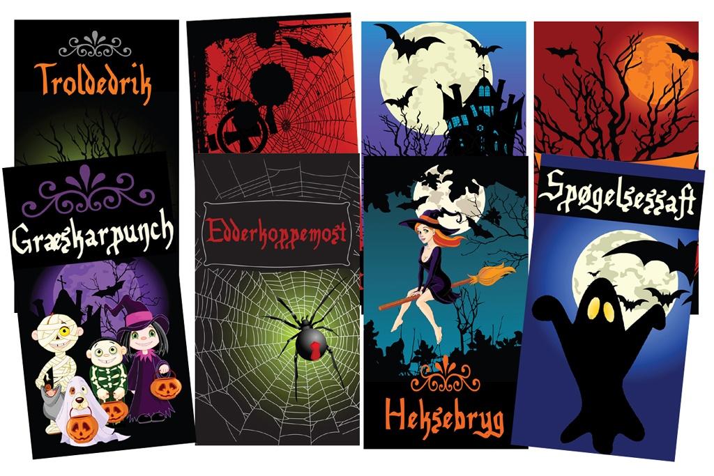 halloweenetiketter